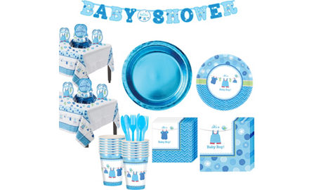 Boy Baby Shower Tableware Kit Shower With Love 32 Guests Baby