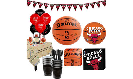 Chicago bulls party supplies party city super chicago bulls party kit 16 guests voltagebd Image collections