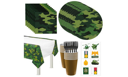 Camouflage party supplies camouflage birthday decorations party city camouflage tableware party kit for 16 guests filmwisefo