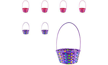 Easter baskets for kids plush baskets plastic buckets party city colorful bamboo easter baskets 12ct negle Gallery