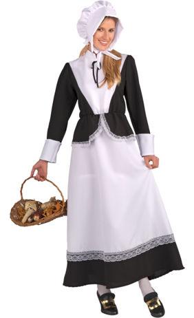 Pilgrim costumes pilgrim hats thanksgiving costumes party city adult pilgrim woman costume solutioingenieria Image collections