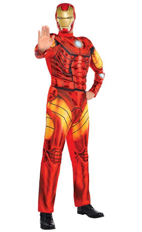 adult iron man muscle costume deluxe