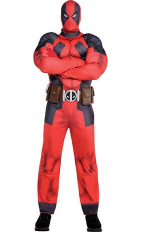 Adult Deadpool Partysuit - Deadpool Costume for Men | Party City ...
