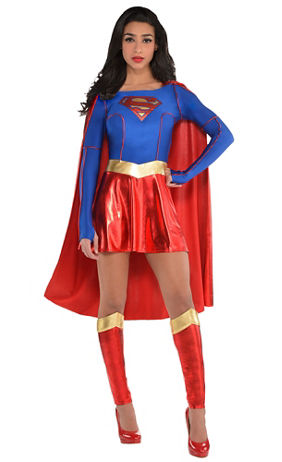 adult supergirl boot covers superman party city. Black Bedroom Furniture Sets. Home Design Ideas