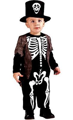 toddler boys happy skeleton costume