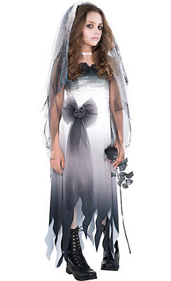 Zombie costumes for kids adults zombie costume ideas party city girls graveyard bride costume solutioingenieria Images