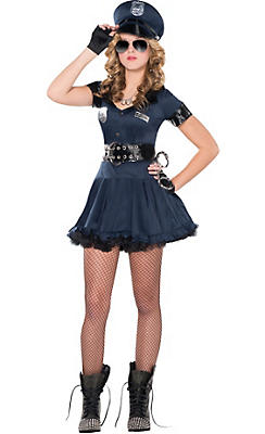 adult locked n loaded cop costume