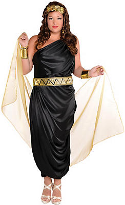Egyptian roman greek costume accessories party city adult queen of the nile cleopatra costume plus size solutioingenieria Gallery
