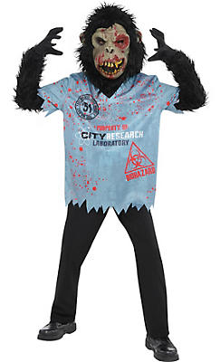 boys zombie chimp costume