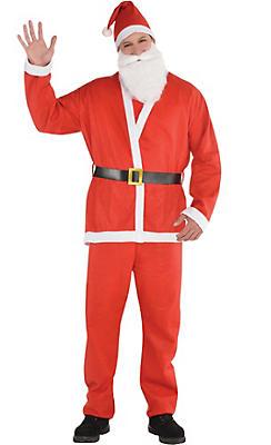 adult santa suit - Santa Claus Red
