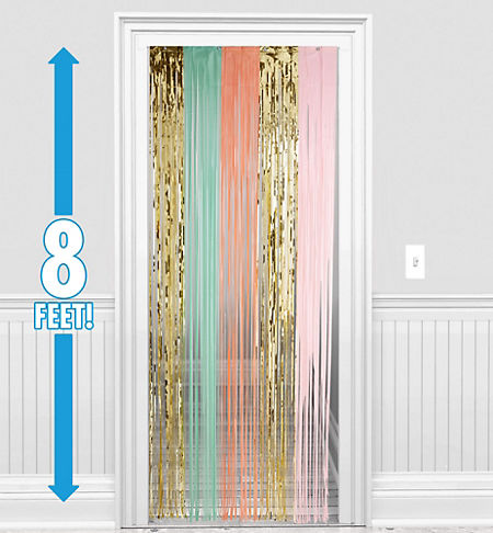 Pastel Gold Fringe Doorway Curtain