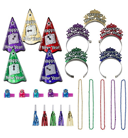 Deluxe Congrats Grad Red Graduation Party Kit for 36 Guests