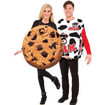 Adult Cookie & Milk Box Couples Costumes