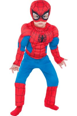 Toddler Boys Classic Spider Man Muscle Costume