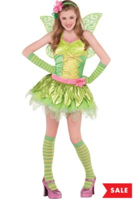 a7748a27eebe Teen Girls Tinker Bell Costume