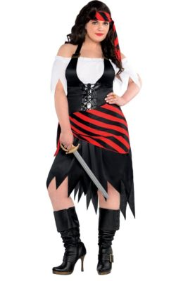 Pirate costumes for kids adults party city adult rogue maiden pirate costume plus size solutioingenieria Choice Image