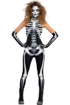 New lady/'s skeleton tank women female costume party//halloween