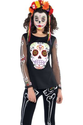 day of the dead long sleeve shirt