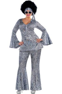 Adult Dancing Queen Disco Costume Plus Size 0fc5bfc180e7