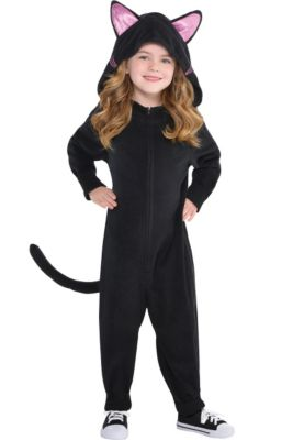 5be26bfd7e87 Toddler Girls Zipster Black Cat One Piece Costume