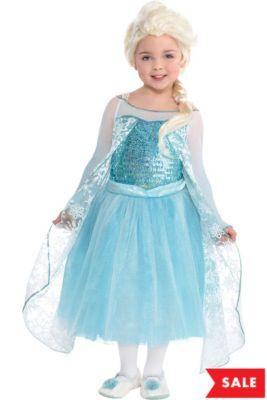14718f10fc38 Girls Elsa Costume Premier - Frozen