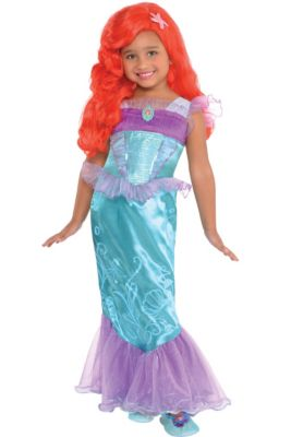 8ad1238a7 Disney Princess Ariel Costumes for Kids | Party City
