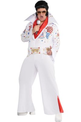1e92155bd6feb Adult King of Rock  n  Roll Costume Plus Size