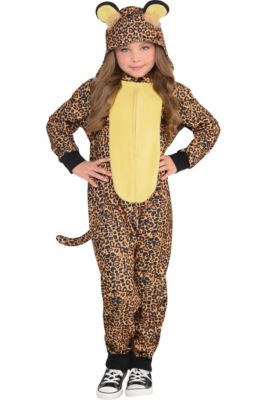 26ae0f5d65 Girls Zipster Leopard One Piece Costume