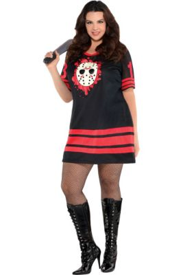 adult miss voorhees costume plus size friday the 13th