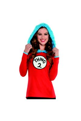 Adult Thing 1   Thing 2 Hooded Long-Sleeve Shirt - Dr. Seuss 2c455f5726