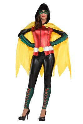 Womens superhero costumes superhero costume ideas party city adult robin jumpsuit costume dc comics new 52 solutioingenieria Images