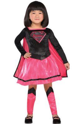 Toddler Girls Pink Supergirl Dress Costume - Superman 4877d49a49ec