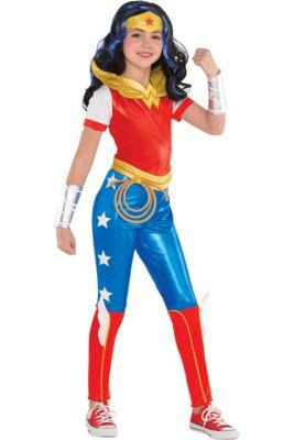 Dc Super Hero Girls Deluxe Catwoman Child Superhero Halloween Costume