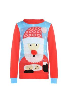 child santa ugly christmas sweater - Offensive Ugly Christmas Sweater
