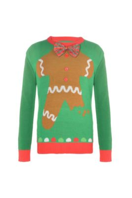93ead4020 Child Gingerbread Man Ugly Christmas Sweater