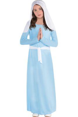 Girls Light Blue Virgin Mary Costume 7d30d77e63e5