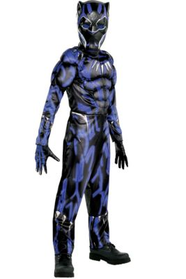 boys black panther muscle costume black panther movie