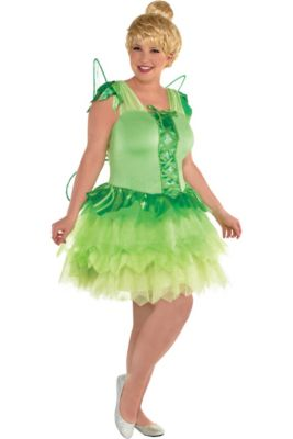 womens tinker bell costume plus size peter pan