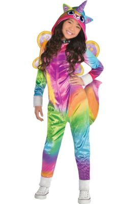 Girls Felicity Costume - Rainbow Kitty Unicorn