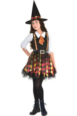 girls witchy school girl costume