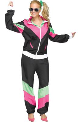 Womens 80s Sweat Suit Costume e968d64b2ab7