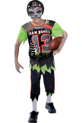 boys zombie football player costume