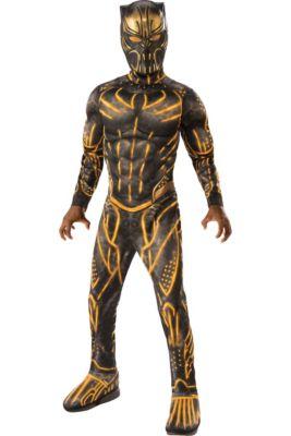 boys erik killmonger muscle costume black panther