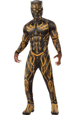 mens erik killmonger muscle costume black panther