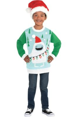 c430d687427 Child Light-Up Yeti Ugly Christmas Sweater