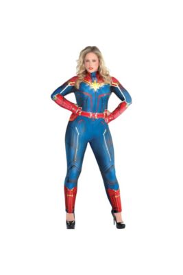 a75e28a7c1b Adult Light-Up Captain Marvel Costume Plus Size - Captain Marvel