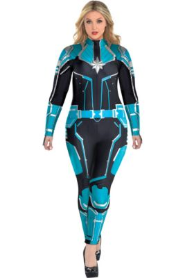 7a70aa41ad554 Adult Captain Marvel Starforce Costume Plus Size- Captain Marvel
