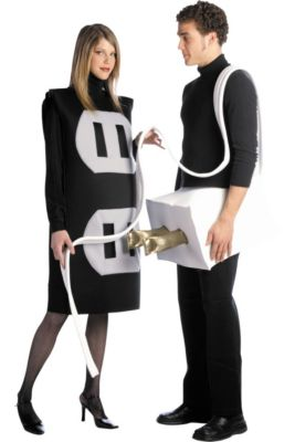 adult plug socket costume