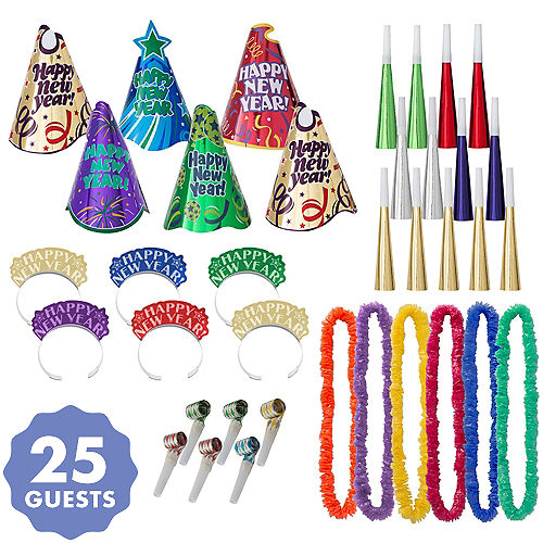 kit for 25 party time new years party kit
