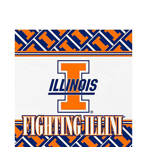 new products ddb61 158ac Illinois Fighting Illini Lunch Napkins 20ct